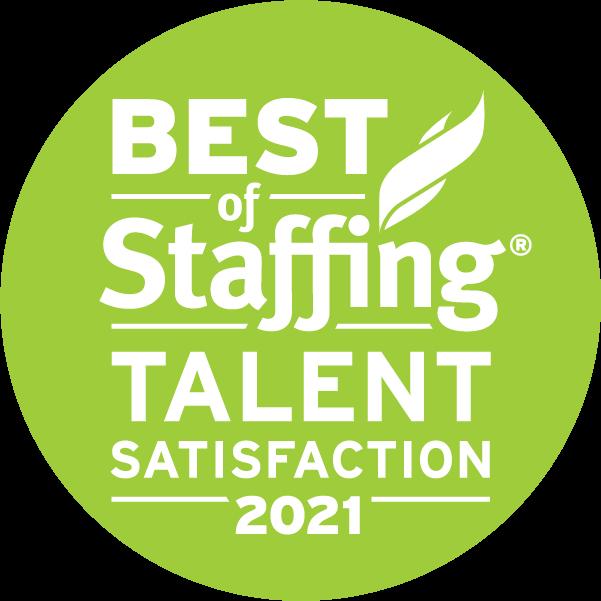 Best of Staffing: Talent Satisfaction 2020 badge